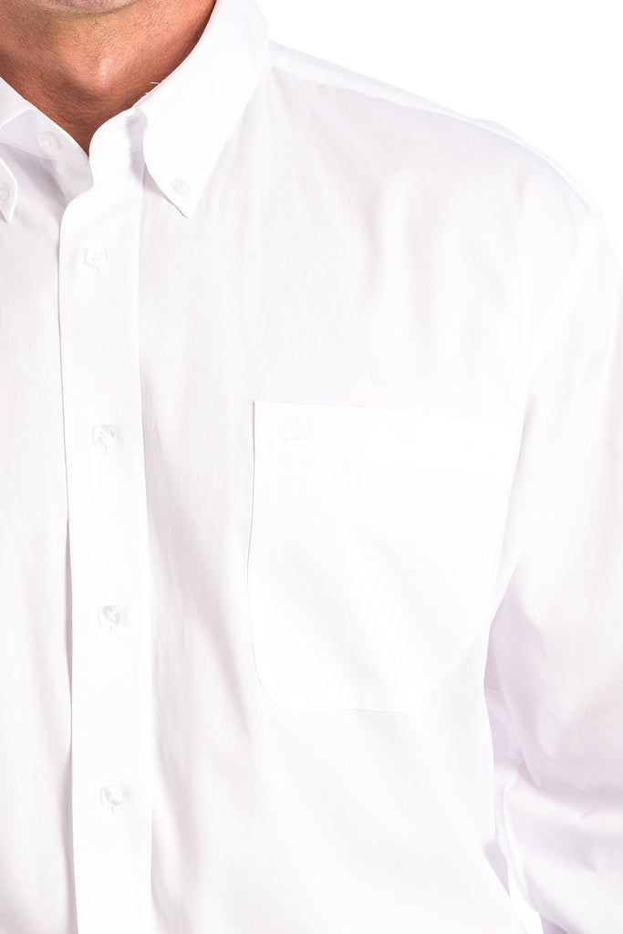 Cinch Solid White Button Shirt