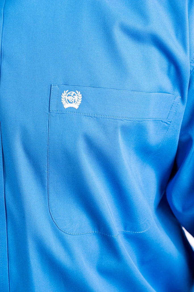 Cinch Solid Blue Button Shirt - Size XXLarge