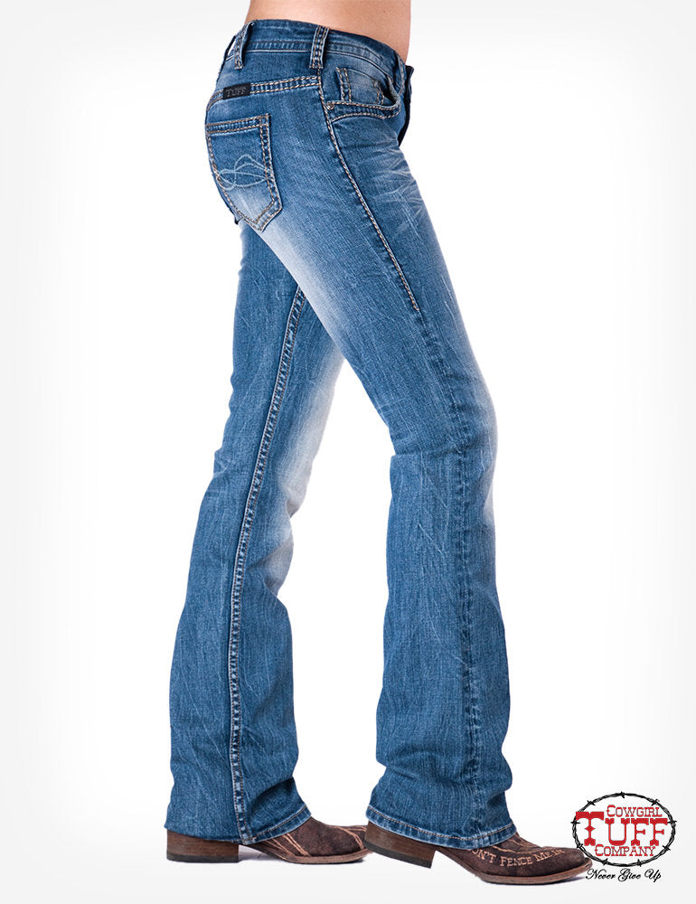 Cowgirl Tuff Barbed Wire Bootcut Jeans