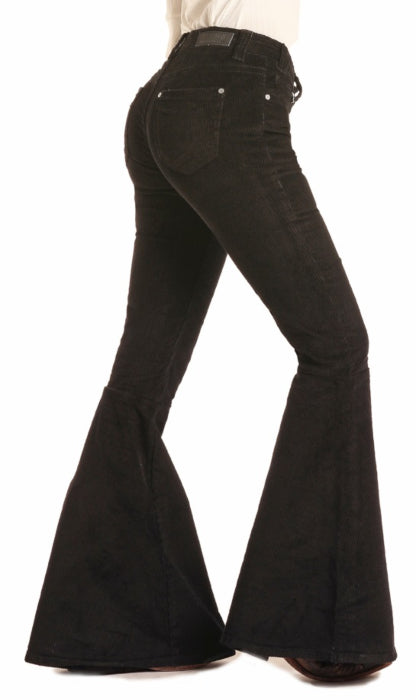 Women's Rock & Roll Mid Rise Corduroy Bell Bottoms
