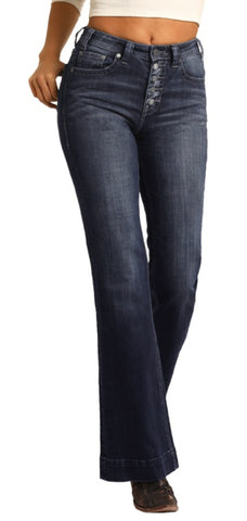 Women's R&R Cowgirl High Rise Button Fly Trousers