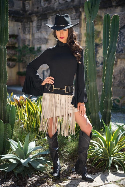 Allie Fringe Skirt