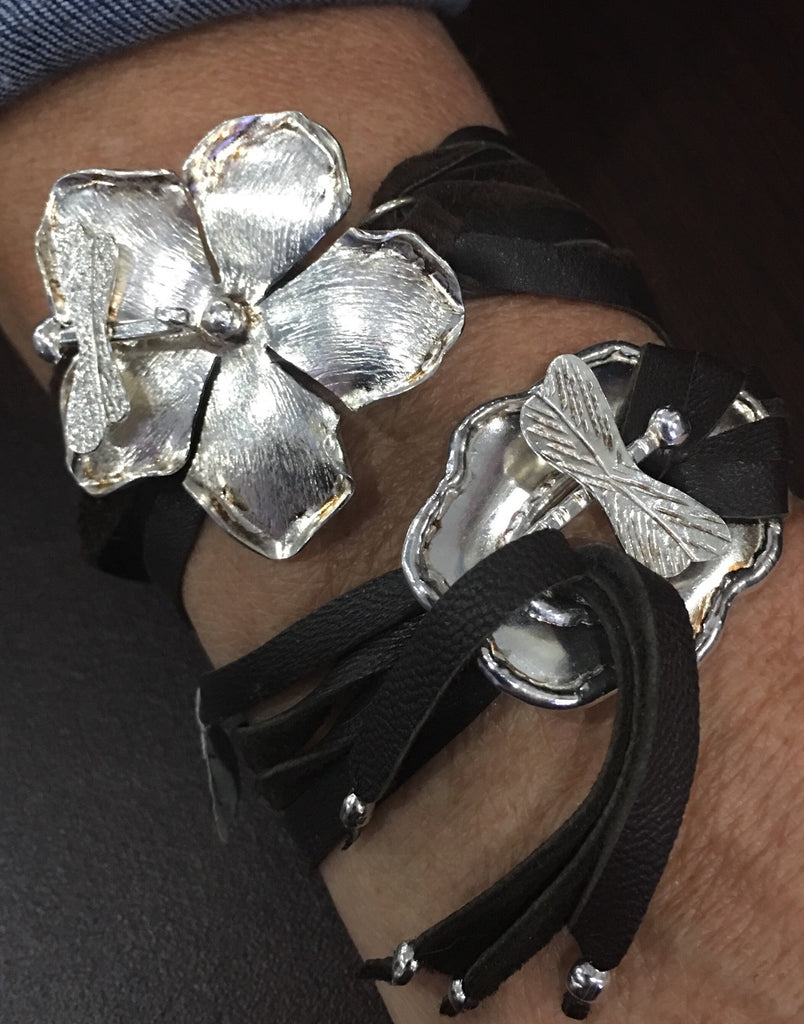 Dragonfly Flower Bracelet (Top)