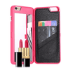 AmazenSave Phones & Accessories / Cases & Covers / Cases For iPhone 6/6 Plus Pink Phone Case with Mirror and Card Slot