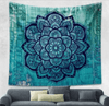 AmazenSave Sports & Outdoors / Swimming / Cover-Ups A / 148*210 Indian Mandala Tapestry Green Blue Flower Beautiful Wall Art Tapestry 210x150cm Bedspread Beach Towel Yoga Blanket Table Cloth