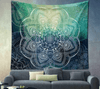 AmazenSave Sports & Outdoors / Swimming / Cover-Ups E / 148*210 Indian Mandala Tapestry Green Blue Flower Beautiful Wall Art Tapestry 210x150cm Bedspread Beach Towel Yoga Blanket Table Cloth