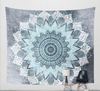 AmazenSave Sports & Outdoors / Swimming / Cover-Ups F / 130*148 Indian Mandala Tapestry Green Blue Flower Beautiful Wall Art Tapestry 210x150cm Bedspread Beach Towel Yoga Blanket Table Cloth