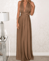 AmazenSave Women's Clothing / Tops & Sets / Dresses Brown / XL Sexy Women Bandage Convertible Boho Maxi Dress