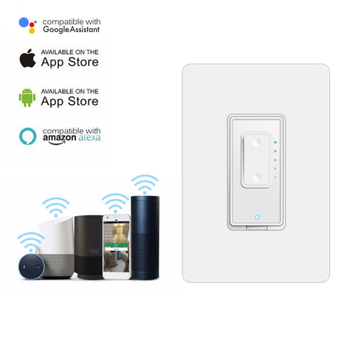 Dimmable WiFi Switch US Plug Smart Switch Compatible with Alexa Google