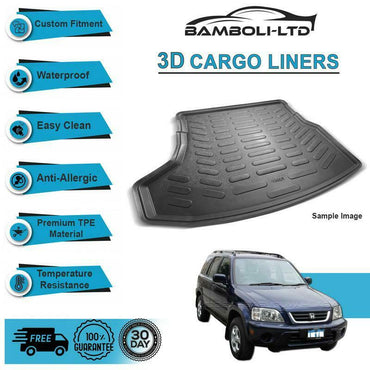 Fit for HONDA CRV 4X4 SUV 1996-2001, Rear Liner Rubber 3D Cargo Trunk Mat