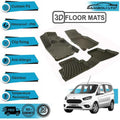 3D Floor Mats Liner Interior Protector Fit Ford Courier (Black)