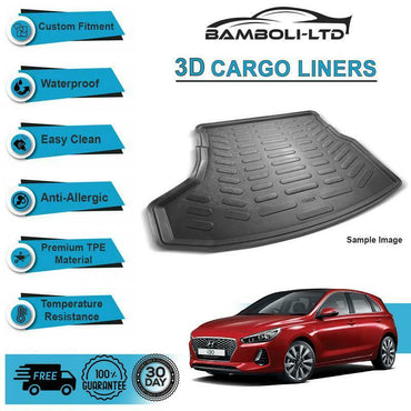 3D Cargo Liner Boot Liner Rear Trunk Mat For Hyundai İ30 2016-Up