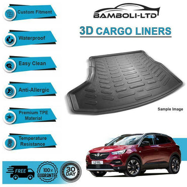 3D CARGO LINER BOOT LINER REAR TRUNK MAT FOR Opel Grandland 2017-UP