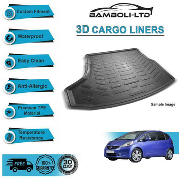 3D Cargo Liner Boot Liner Rear Trunk Mat For Honda Jazz 2002-2008