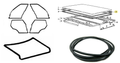 Bmw E46 3 Series 1998-2006 Door + Trunk Lid Rubber Sunroof Seal Gasket 6 Pcs