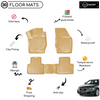 3D Molded Interior Beige Car Floor Mat for Audi A3 2012 - Up