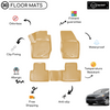 3D Molded Interior Beige Car Floor Mat for Ford Focus 3 2010 - 2015