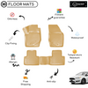 3D Molded Interior Beige Car Floor Mat for Ford Focus 4 2015 - Up