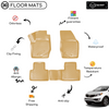 3D Molded Interior Beige Car Floor Mat for Kia Sportage 2010 - 2014