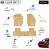 3D Molded Interior Beige Car Floor Mat for Kia Sportage 2015 - Up
