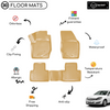 3D Molded Interior Beige Car Floor Mat for Opel Astra H