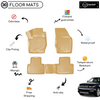 3D Molded Interior Beige Car Floor Mat for Range Rover Sports 2013 - Up