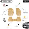 3D Molded Interior Beige Car Floor Mat for Skoda Super B 2008 - 2014