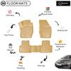 3D Molded Interior Beige Car Floor Mat for Toyota Auris 2013 - Up