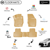 3D Molded Interior Beige Car Floor Mat for Toyota Corolla 2018 - Up
