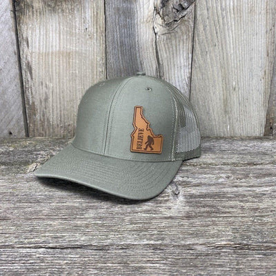 BIGFOOT IDAHO LEATHER PATCH HAT RICHARDSON 112 Leather Patch Hats Hells Canyon Designs Loden