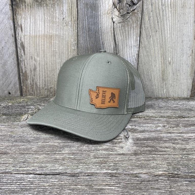 BIGFOOT WASHINGTON LEATHER PATCH HAT RICHARDSON 112 Leather Patch Hats Hells Canyon Designs Loden