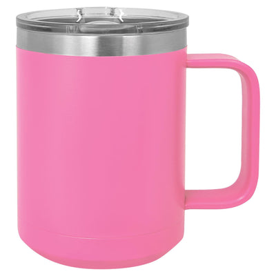 CAMP STYLE COFFEE CUPS 15 oz Coffee Mugs Hells Canyon Designs Pink