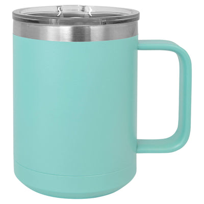 CAMP STYLE COFFEE CUPS 15 oz Coffee Mugs Hells Canyon Designs Turquoise