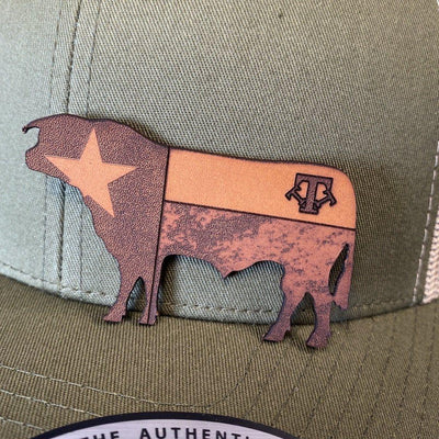 CUSTOM LEATHER PATCH HATS Leather Patch Hats Hells Canyon Designs