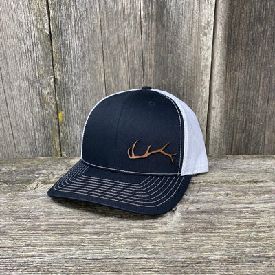ELK HORN RICHARDSON LEATHER PATCH HAT Leather Patch Hats Hells Canyon Designs Charcoal/Orange