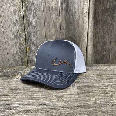 ELK HORN RICHARDSON LEATHER PATCH HAT Leather Patch Hats Hells Canyon Designs Grey/Black