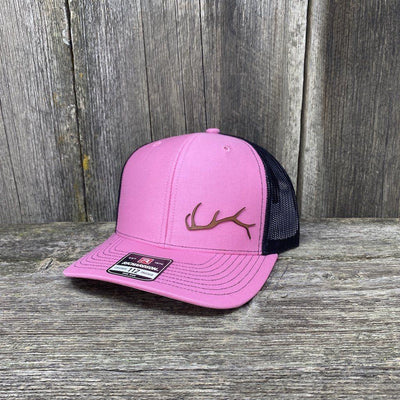 ELK HORN RICHARDSON LEATHER PATCH HAT Leather Patch Hats Hells Canyon Designs Pink/Black