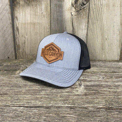 Hells Canyon Patch Hat Leather Patch Hats Hells Canyon Designs