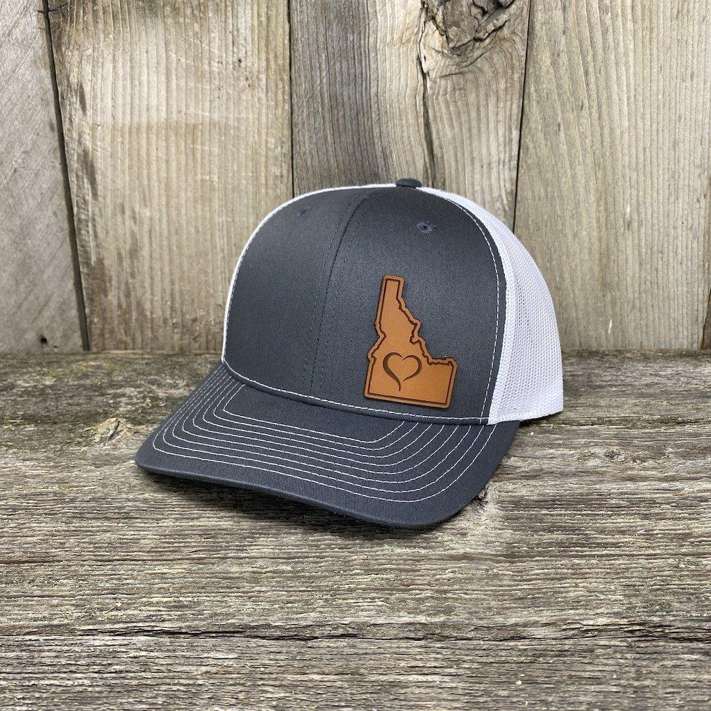Love Idaho Patch Hat Leather Patch Hats Hells Canyon Designs