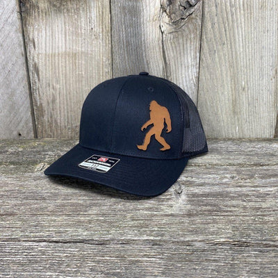 SASQUATCH LEATHER PATCH HAT - RICHARDSON 112 Leather Patch Hats Hells Canyon Designs