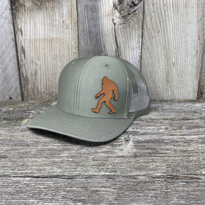 SASQUATCH LEATHER PATCH HAT - RICHARDSON 112 Leather Patch Hats Hells Canyon Designs Loden