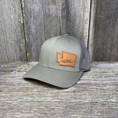 Washington Elk Patch Hat Richardson 112 Leather Patch Hats Hells Canyon Designs Loden