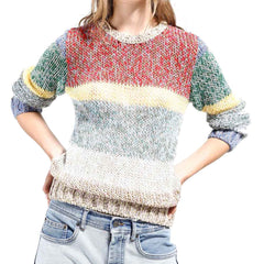No. 21 multi-stripe sweater