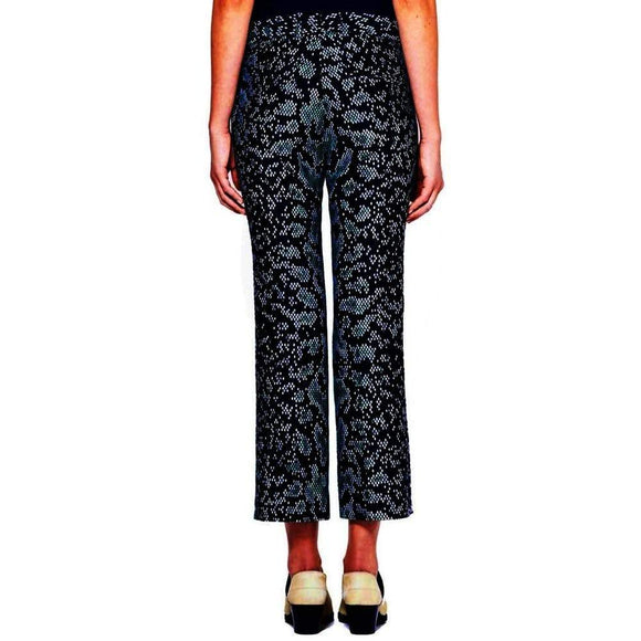 3.1 Phillip Lim Black Snakeskin Cropped Highwaisted Flared Pant Pants 0 / Black 3.1 Phillip Lim 3.1 Phillip Lim 300-500 cropped Fall 2015 pants resocial Sale size-0 size-4 Snake Print Winter 2015 $100.00 GordonStuart.com