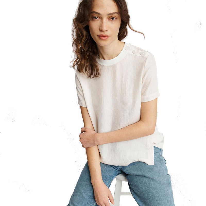 Rag & Bone Pearson White Longsleeve Sheer Top