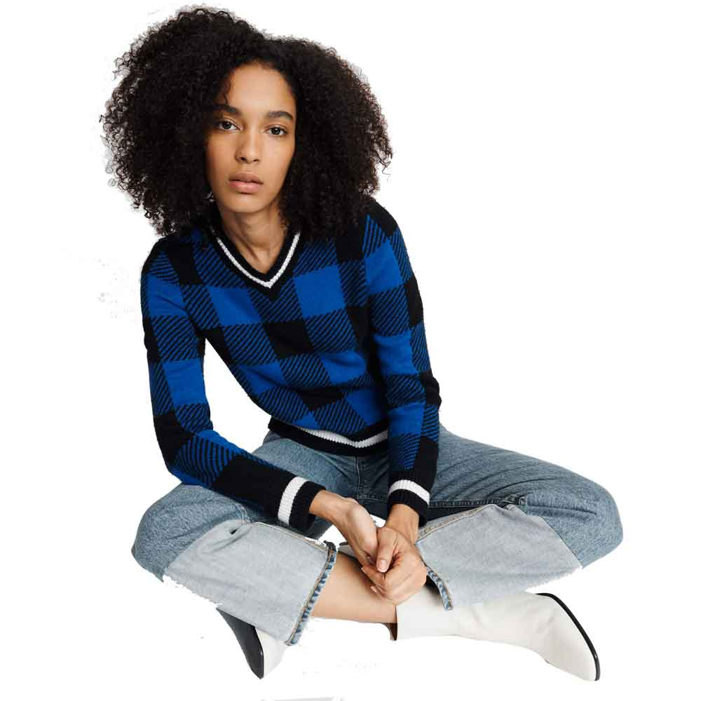 Rag & Bone Gabby Blue Sweater