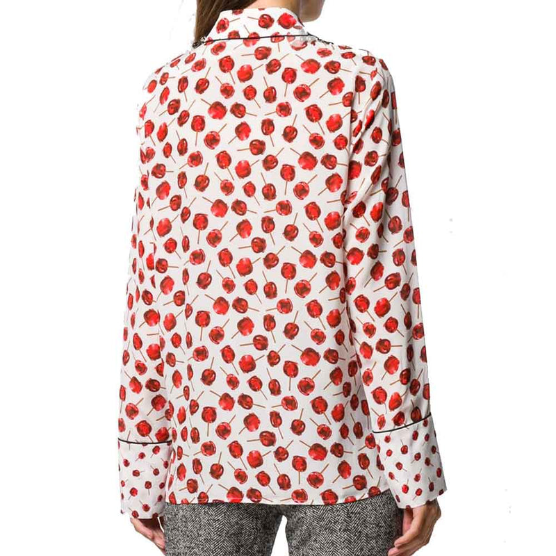 No. 21 Candy Apple Print Blouse