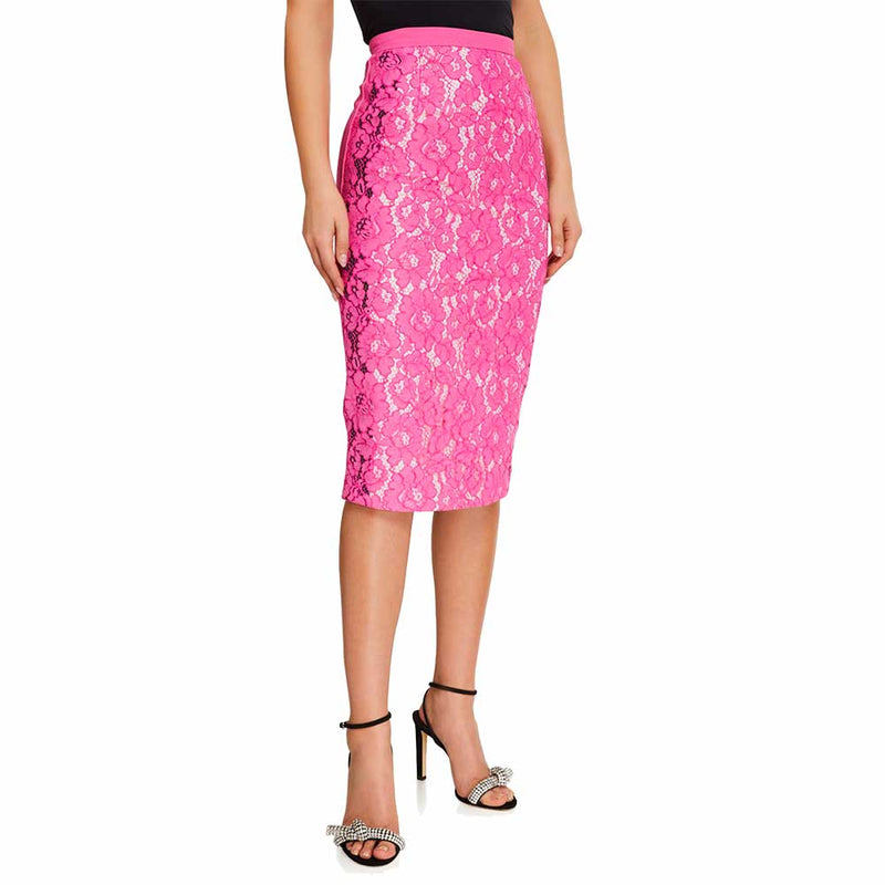 No. 21 Daisy Print Pencil Skirt