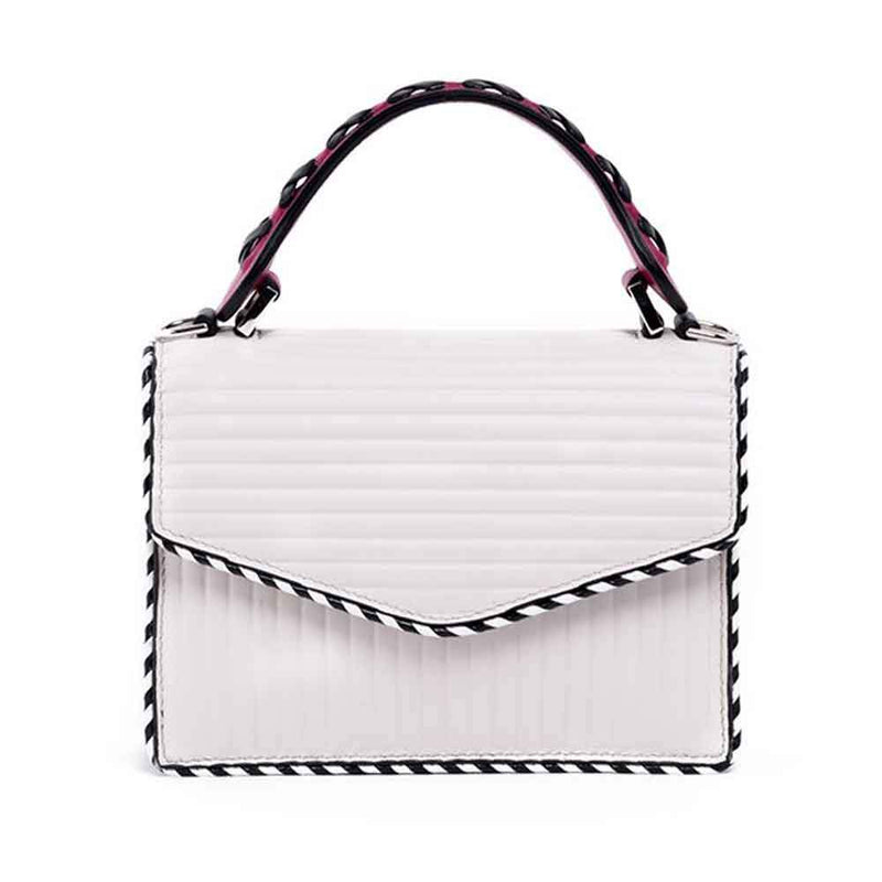 Elena Ghisellini S Angel Plaid Top Handle Handbag