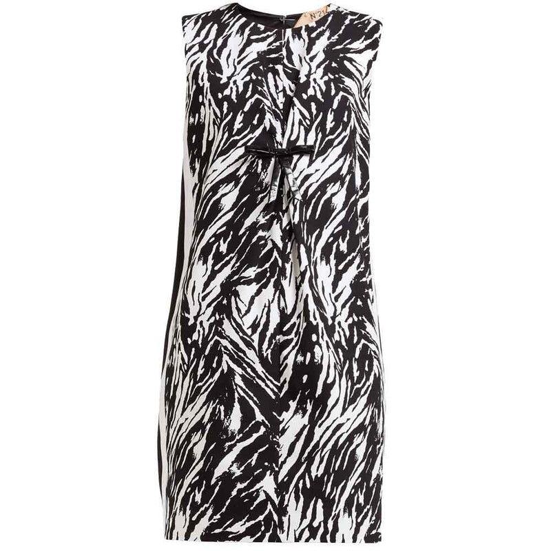 No. 21 Zebra Print Shift Dress